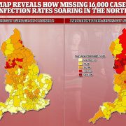 Map reveals how Covid-19 infection rates soared in the North of England after PHE's Excel bungle
