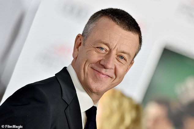 The creator of hit saga The Crown, Peter Morgan (pictured), has admitted he 'made up' confrontation between Prince Charles and his great uncle Lord Mountbatten for the Netflix series