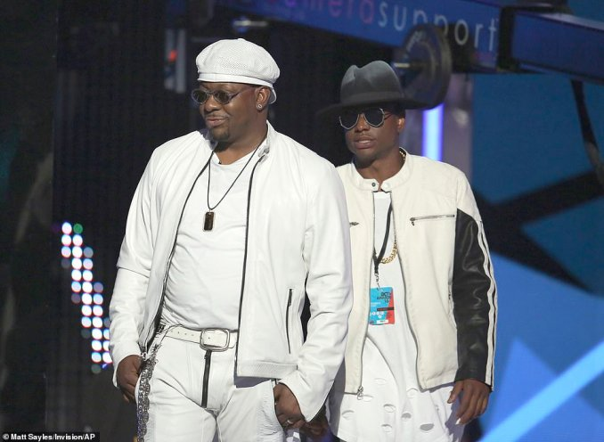 Bobby Brown, left, and Bobby Brown Jr. appeared at the BET Awards in Los Angeles on June 26, 2016