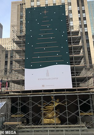 Every year, the Rockefeller Center tree is decorated with thousands of lights on a five-mile-long wire and topped with a large star