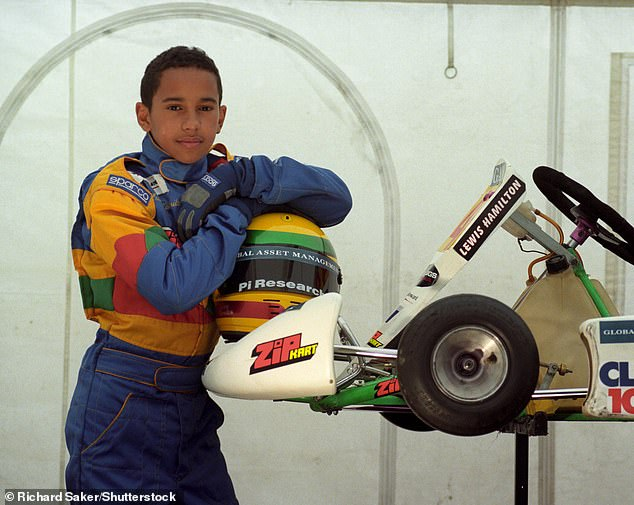 Hamilton was a keen go-karter as a young boy, sparking his love of racing which has taken him to the top of the sport