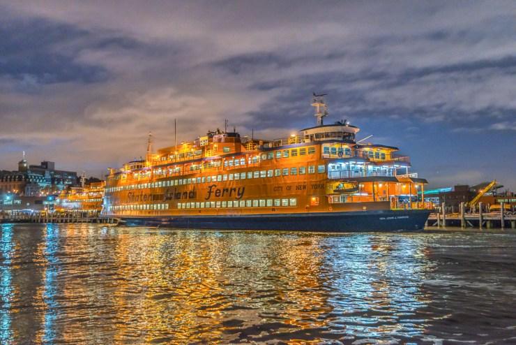 Staten Island Ferry docked at St. George, Staten Island