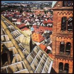 Speyer, Germany from bell church tower