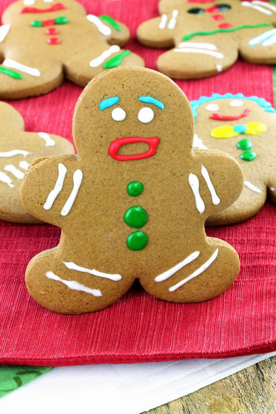 Old Fashioned Gingerbread Men Cookies
