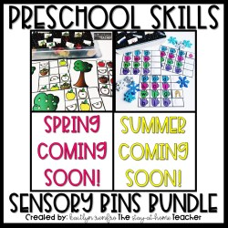 Preschool Skills Seasonal Sensory Bins Bundle COVER