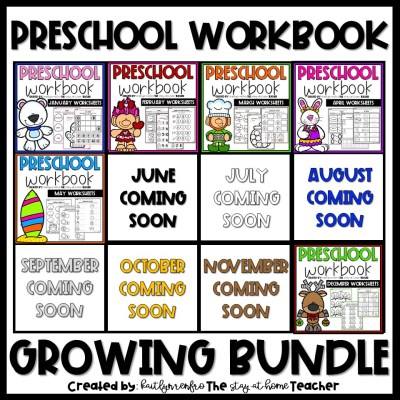 Preschool Workbook - BUNDLE COVER