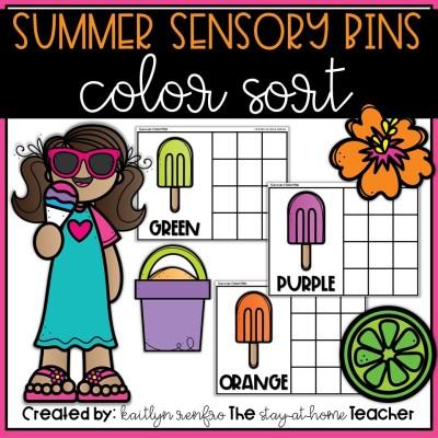 Summer Sensory Bin FREEBIE