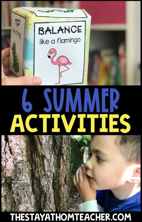 6 Summer Preschool Learning Activities