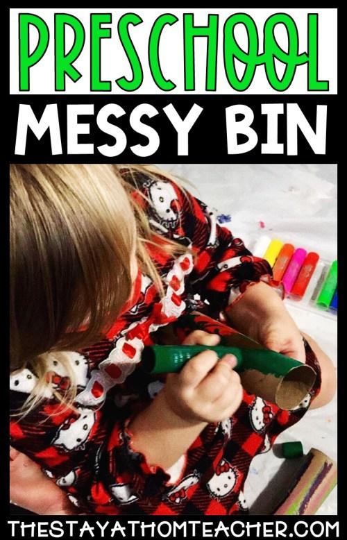Preschool Messy Bin