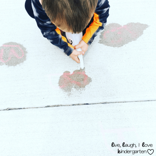Chalk Wash Preschool Activity