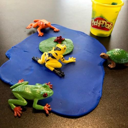 PlayDoh Pond Preschool Activity