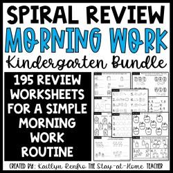 Morning Work - Kinder Bundle COVER