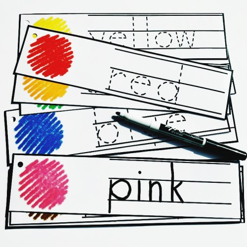 Color Words Tracing Cards