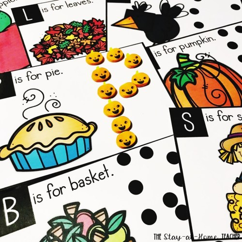 Fall Letter Formation Cards