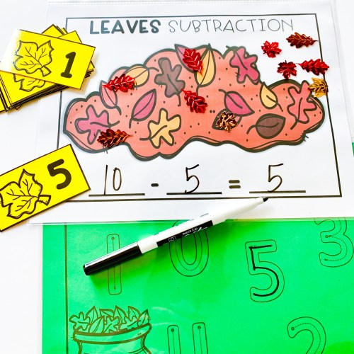 Fall Leaves Subtraction