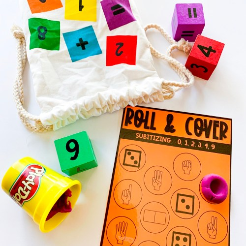 Roll and Cover Subitizing Activities