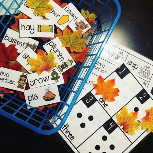 Counting Cards - Fall Leaves