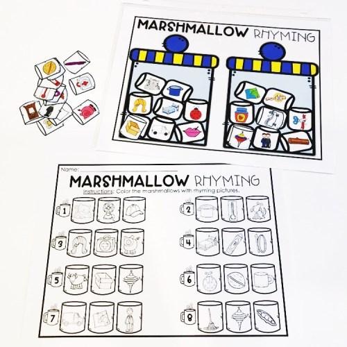 Marshmallow Rhyming
