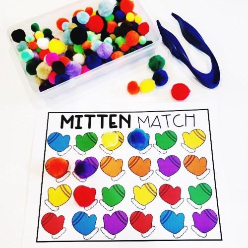 Mitten Color Match PomPoms