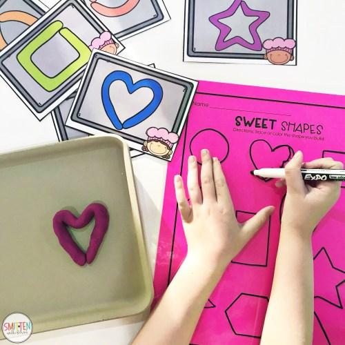Valentine Shape PlayDoh Mats