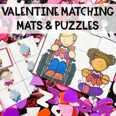 Valentine Matching Mats and Puzzles