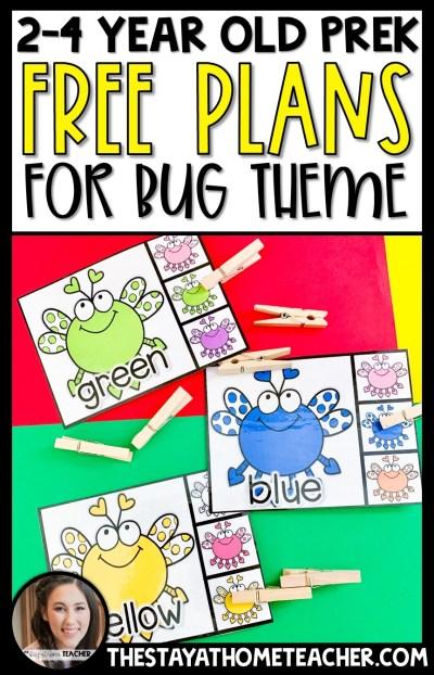5Bug Preschool Plans2