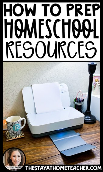 prepare homeschool resources pin