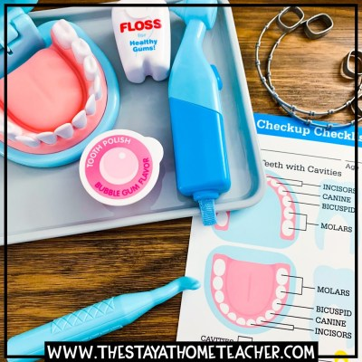 dentist dramatic play set