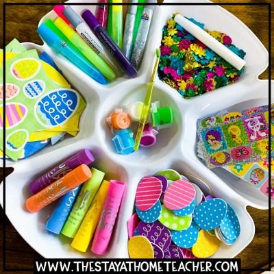 spring craft tray