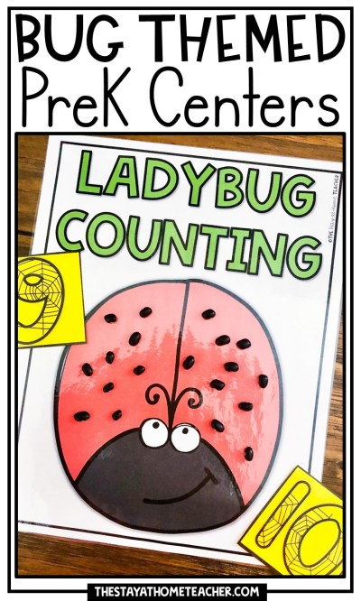 Bug Themed Preschool Centers pin