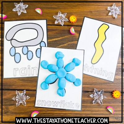 weather play dough cards