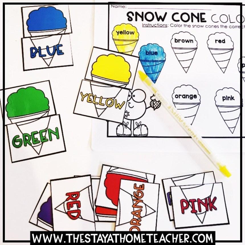 snowcone color puzzles
