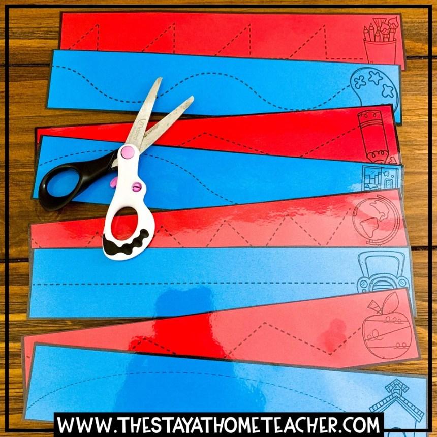 scissors cutting practice