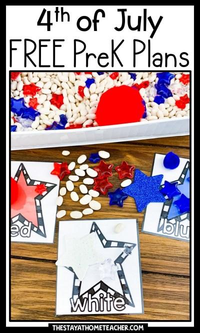 4th of july preschool plans pin