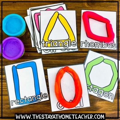 play dough shape cards