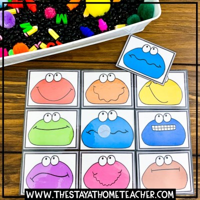 play dough color matching