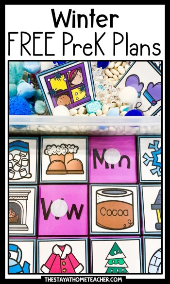 winter preschool plans pin