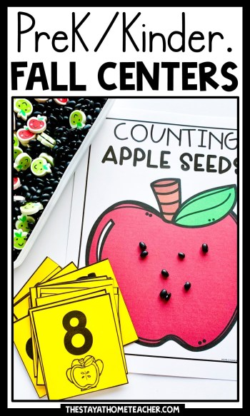 fall math and literacy centers pin