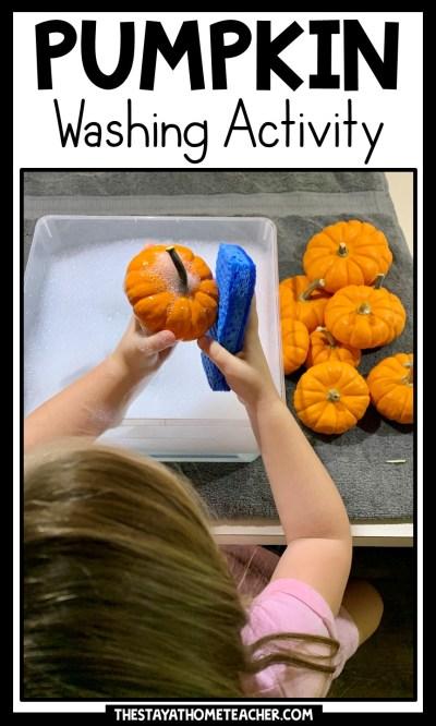 pumpkin washing activity