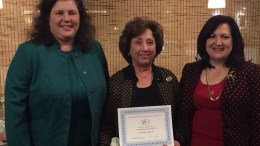 Pictured are Suzanne Sweeney, President; Wanda Alcon and Tracy Petruccelli, Past President.