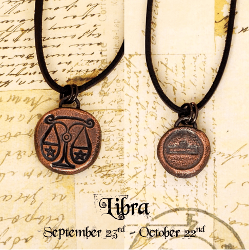 Zodiac and Horoscope Charm Necklace - Libra