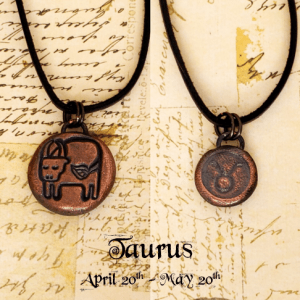 Zodiac and Horoscope Charm Necklace - Taurus