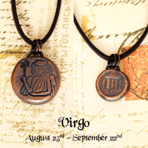 Zodiac and Horoscope Charm Necklace - Virgo