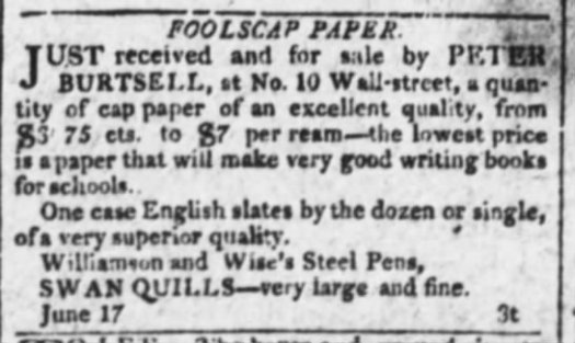 1809 Williamson and Wise steel pens