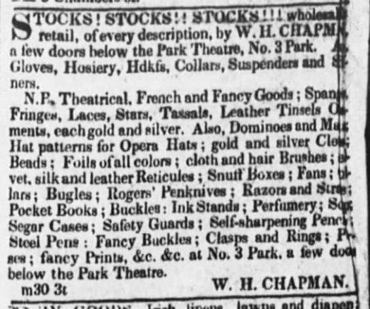 1829 chapman NY ad