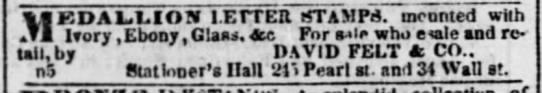 1840 David Felt medallions