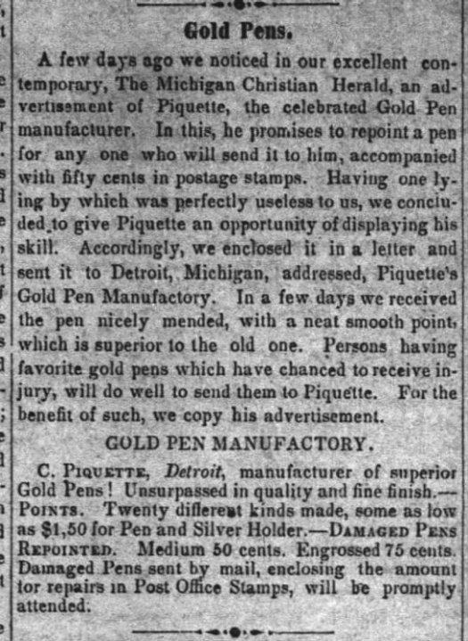 1853 Piquette repair work
