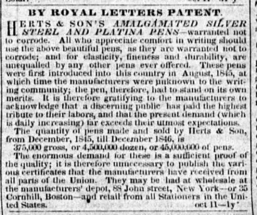 1847 Herts sons big ad