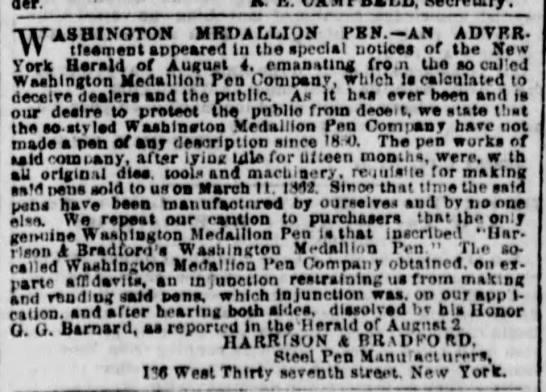 1864 harrison bradford