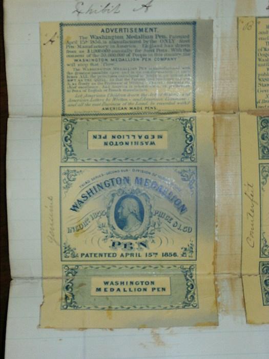 Picture of the original Washington Medallion Pen box